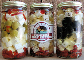 Marinated Feta with Sun Dried Tomatoes and Olives