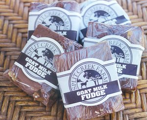 Split Creek award winning goat milk fudge