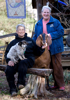 Evin Evans & Pat Bell, Owners of Split Creek Farm, LLC